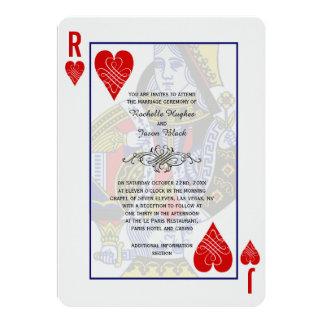 Kungdrottning som leker kortinbjudan 12,7 x 17,8 cm inbjudningskort