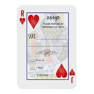 Kungdrottning som leker kortOSA 8,9 X 12,7 Cm Inbjudningskort