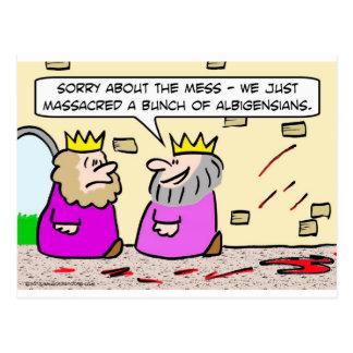Kungen ber om ursäkt för oreda vänstert från vykort