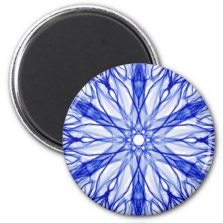 Kunglig blåttFractal Magnet