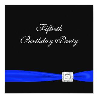 Kunglig blåttkvinna flott födelsedagsfest för fyrkantigt 13,3 cm inbjudningskort