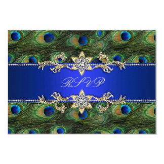 Kunglig blåttpåfågelOSA 8,9 X 12,7 Cm Inbjudningskort