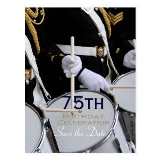 Kunglig brittisk spara för musikband75:efödelsedag vykort