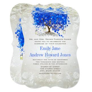Kunglig bröllopsinbjudningar för träd för 12,7 x 17,8 cm inbjudningskort