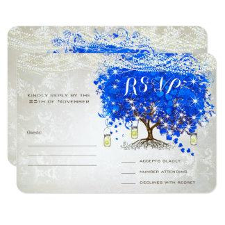 Kunglig bröllopsinbjudningar för träd för 8,9 x 12,7 cm inbjudningskort