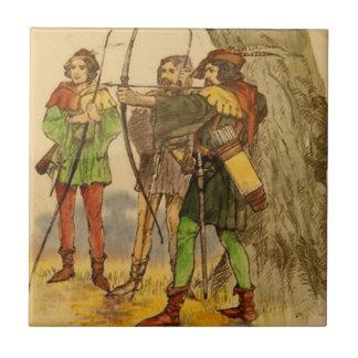 Kunglig Doulton Robin Hood vintage belägger med Liten Kakelplatta