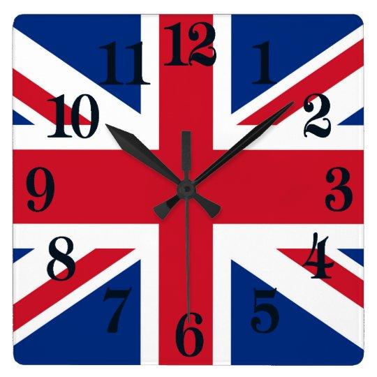 Kunglig facklig jackflagga för UK Britannien Fyrkantig Klocka