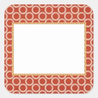 KUNGLIG färg cirklar: Guld- rik röd energi för n Fyrkantigt Klistermärke