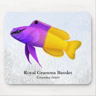 Kunglig fisk Mousepad för Gramma korallrev Musmatta