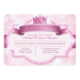Kunglig flick kalas för Princess Rosa Blänka 11,4 X 15,9 Cm Inbjudningskort