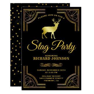 Kunglig guld- inbjudan för party för art