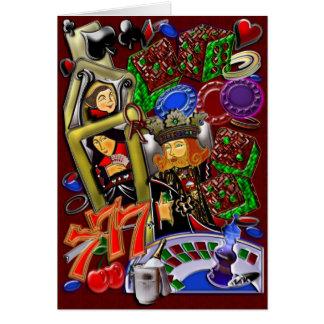 Kunglig hjärtaspolning, kasinokonst hälsningskort