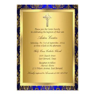 Kunglig inbjudan för dop för blått- &