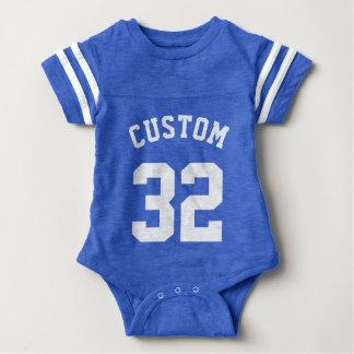 Kunglig Jersey för sportar för blått- & vitbaby | T-shirt