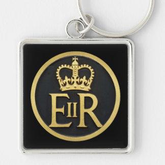 Kunglig Jubilee Fyrkantig Silverfärgad Nyckelring