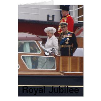 Kunglig jubilee hälsningskort