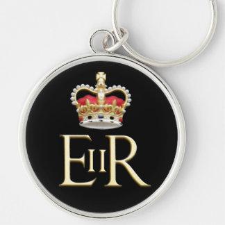 Kunglig Jubilee Rund Silverfärgad Nyckelring