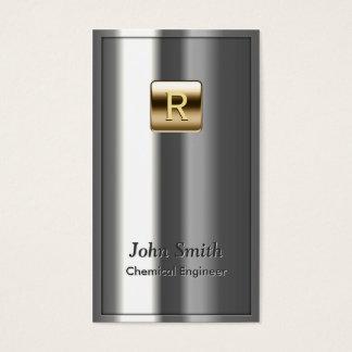 Kunglig metallisk kemisk ingenjörvisitkort visitkort