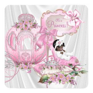 Kunglig Princess baby shower för afrikansk Fyrkantigt 13,3 Cm Inbjudningskort