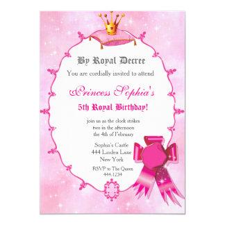 Kunglig Princess födelsedagsfest inbjudan 12,7 X 17,8 Cm Inbjudningskort