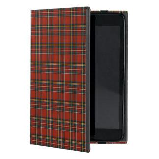 Kunglig röd Stewart familj, blått och gröntTartan iPad Mini Fodral