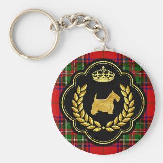 Kunglig Scottie Rund Nyckelring