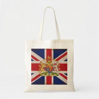 Kunglig vapensköld på den fackliga jackflagga budget tygkasse