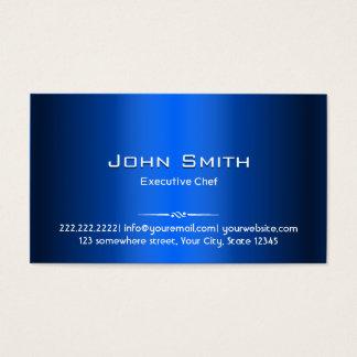 Kunglig visitkort för blåttmetallkock