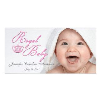 Kungliga babyrosor med kronan fotokort