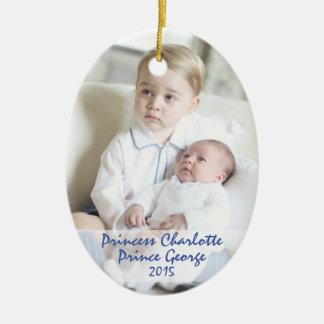 Kungliga barn - George & Charlotte Julgransprydnad Keramik