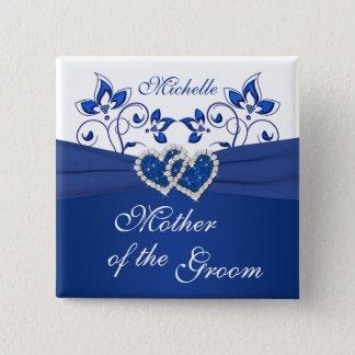Kungliga blått, den blom- modern för vit av standard kanpp fyrkantig 5.1 cm