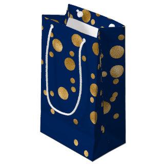 Kungliga blått och guld omkullkastar konfettiar