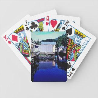 Kungliga blått strömmer till och med Townreflexion Spelkort