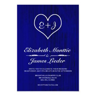 Kungliga blåttlandsbyggsbröllopinbjudningar 12,7 x 17,8 cm inbjudningskort