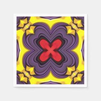 Kungliga färgrika coctailservetter pappersservett