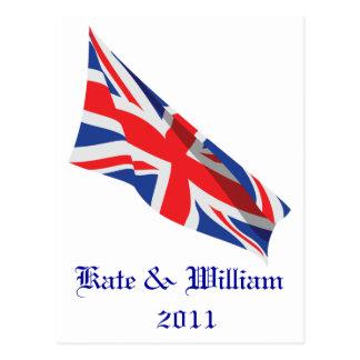 Kungliga gifta sig /Kate och William Vykort