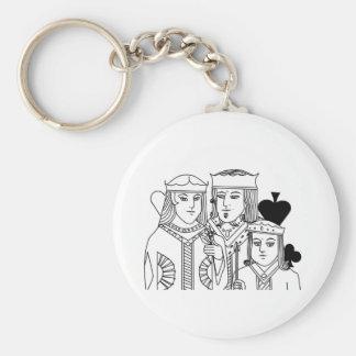 Kungliga objekt för poker för familjporträtteringk rund nyckelring