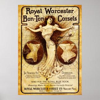 Kungliga Worcester korsetter Poster