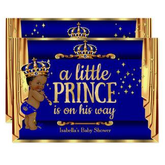 Kungligt blåttguld draperar person som tillhör en 12,7 x 17,8 cm inbjudningskort
