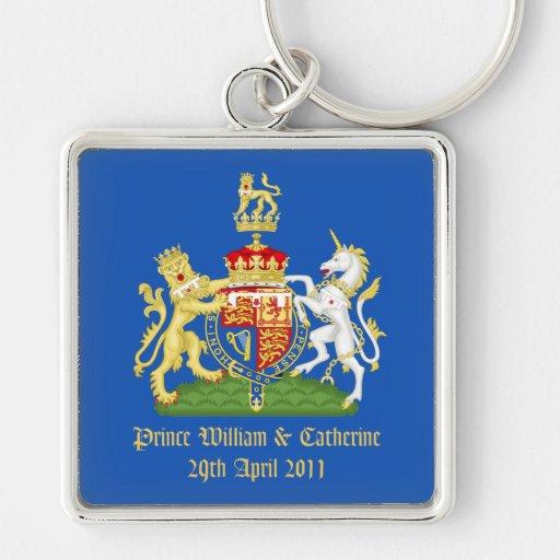 Kungligt bröllop nyckel ring
