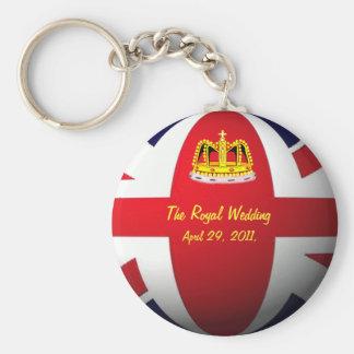 Kungligt bröllop rund nyckelring