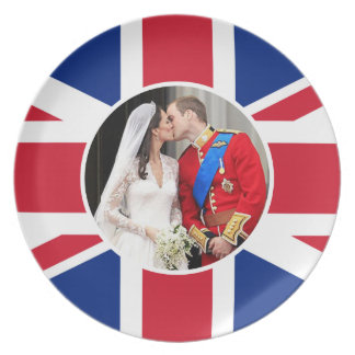 Kungligt bröllop tallrik