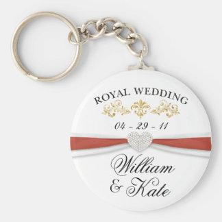 Kungligt bröllop - William & Kate elegantminnessak Rund Nyckelring
