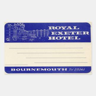 Kungligt Exeter hotell Rektangulärt Klistermärke