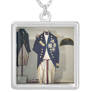 Kungligt ha på sig sjö- enhetligt silverpläterat halsband