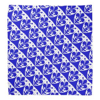Kungligt medeltida fleur de lis för blått och för scarf