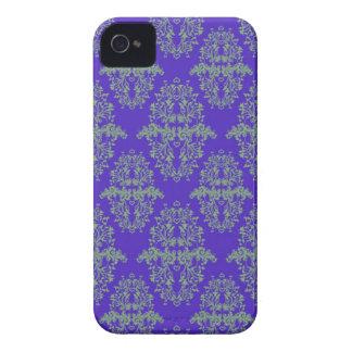 Kungligt mönster för stil för blått- och iPhone 4 cover
