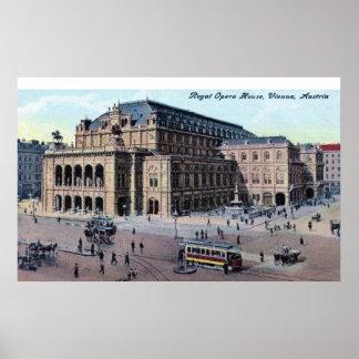 Kungligt operahus, Wien, Österrike c1915 vintage Poster