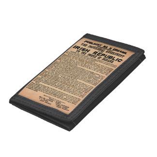 Kungörelse 1916 av Irland den TriFold plånboken