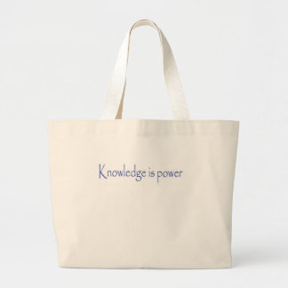 Kunskap är driver jumbo tygkasse